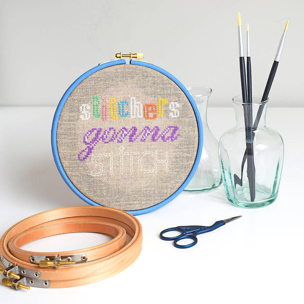 Painting your embroidery hoop is a smart way to compliment your finished piece.
