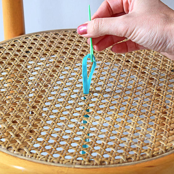 How to stitch a chair base - bring your needle up