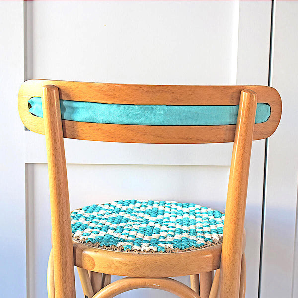 Back of the stitched chair