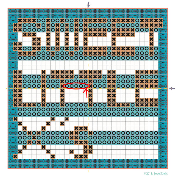 Where to start on your cross stitch pattern