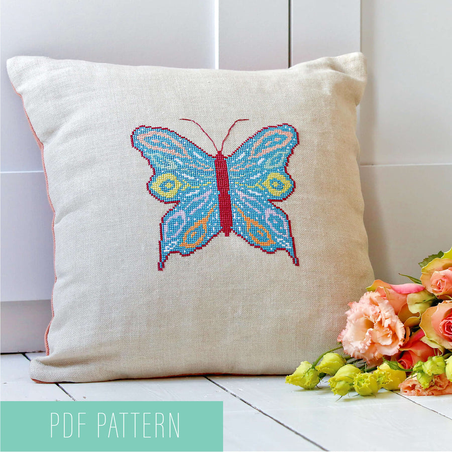 Butterfly cross stitch pattern - PDF downloads