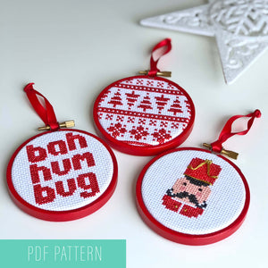Cross stitch Christmas bauble PDF patterns