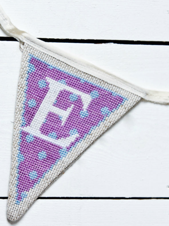 Alphabet pastel bunting PDF patterns