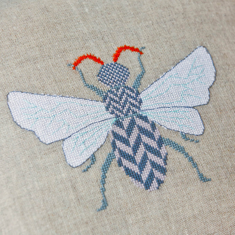 Herringbone hornet downloadable modern cross stitch pattern