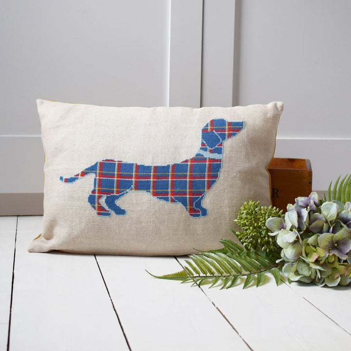 Dachshund cushion cross stitch kit