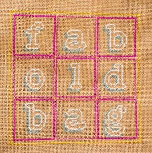 Fab old bag cross stitch is a favourite