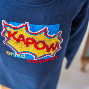 Personalised cross stitch kit - Kapow!