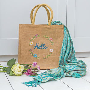 Stitch your own jute bag and get admiring glances on your next shopping trip.
