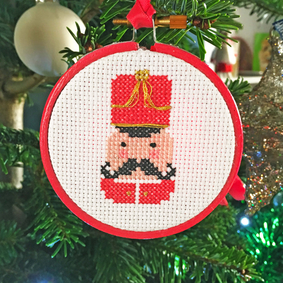 Cross stitch Christmas bauble trio kit