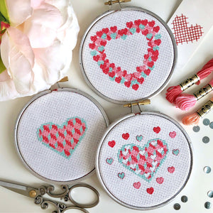 Trio of hearts PDF patterns