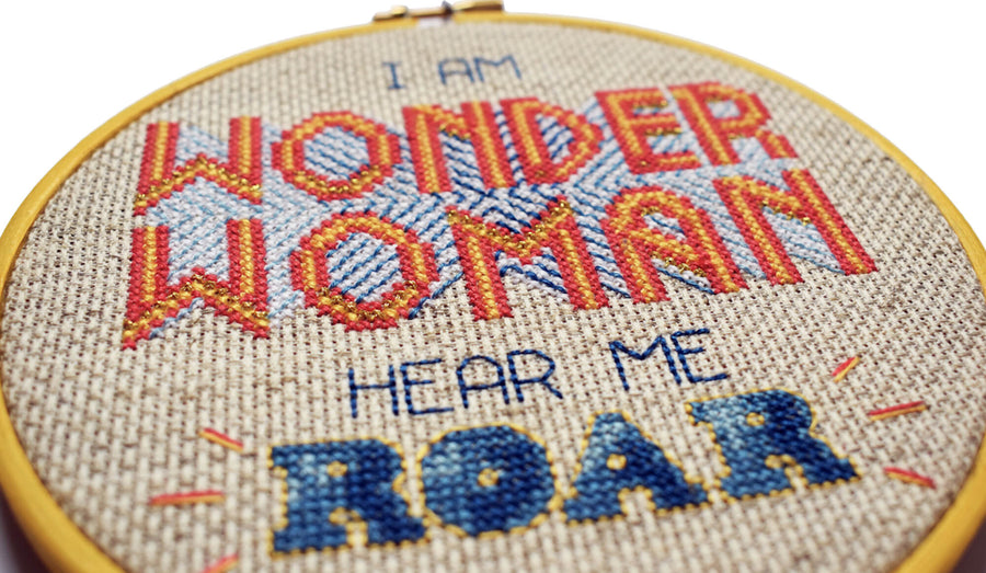 Wonder Woman cross stitch kit