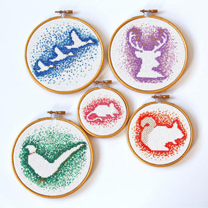 Flying ducks cross stitch kit