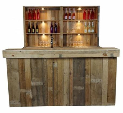 Luxe bar Wood 220cm
