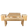 Set steigerhout naturel basic