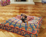 Indian Mandala Square Floor Pillow Case Throw Cushion Ottoman Pouf Dog Bed 35""