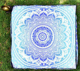 Indian Mandala Floor Pillow Ottoman Poufs Square Cover Day Dog/Pets Bed