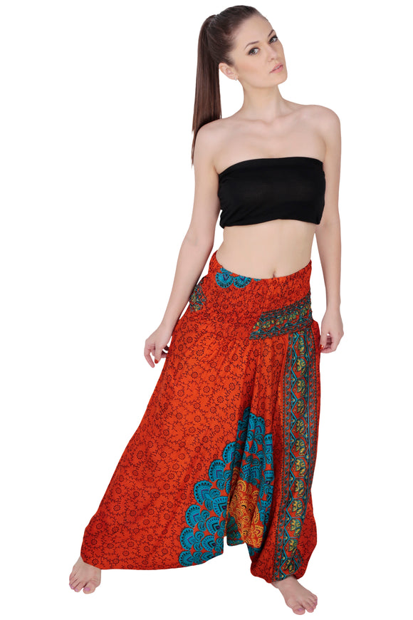 INDIAN BAGGY GYPSY HAREM PANTS YOGA MEN WOMEN RAYON JUMPSUIT