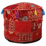 Indian Traditional Home Decorative Ottoman Handmade and Patchwork Foot Stool
