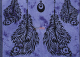 Beautiful Color Indian Dream Catcher Wall Tapestry  Twin Size Purple Color