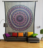 6 Color Pink Purple Star Double Wall Tapestries Throw Tapestry Queen Size