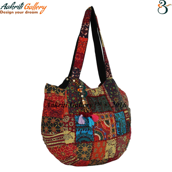 Tribal Shoulder Bag Patch Work Handbag Designer Indian Handmade Handbags