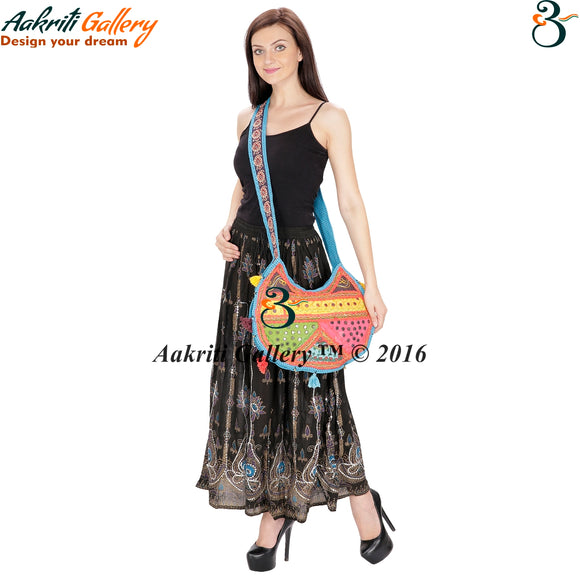 Bag For Students Ethnic Designer Embroidered Work Fashionable Shoulder Bag Indian Handmade Bag