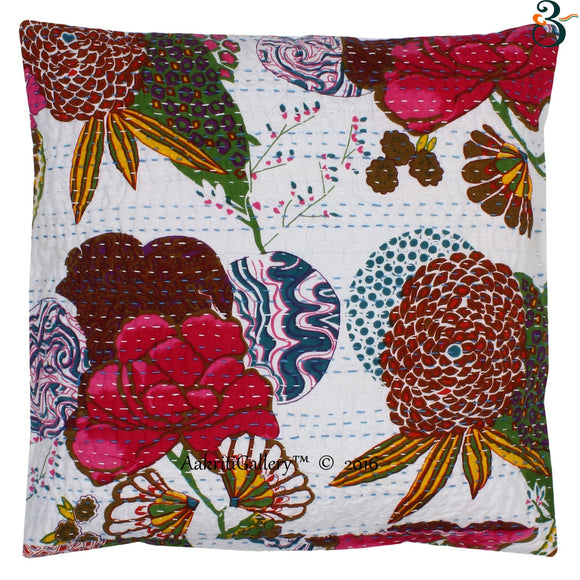 Indian Kantha Cotton Pillow Cover Case Sofa Waist Cushion Cover Home Decor 16