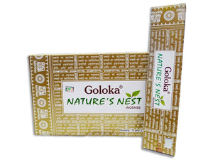 Goloka Nature's Nest Incense Sticks 16gms x 12 packs = 192gms