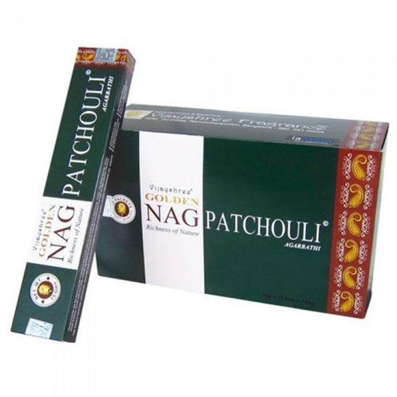 Golden Nag Patchouli - Incense Joss Sticks - 15g Sticks Box X 12 Packs Agarbathi