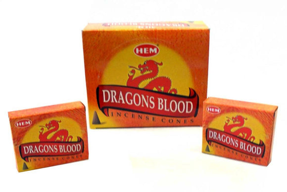 Hem Dragons Blood Incense Cones 10 cones per box X 12 box= 120 cones
