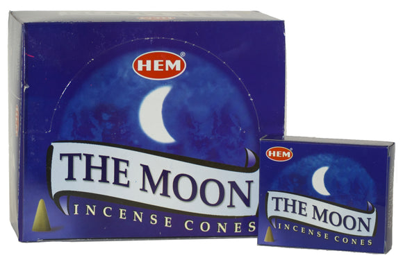 Hem THE MOON Incense Cones 10 cones per box X 12 box= 120 cones