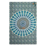 New Peacock White and Blue Single Tapestry Wall Hanging Decor Indian Mandala Tapestries Bedspread