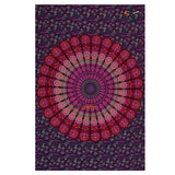 Single Tapestry Mandala New More Pink Purple Tapestry Elephant Hippie Wall Hanging Bohemian Bedspread Throw