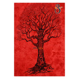 Home Decor Indian Wall Tapestry Red Dye Tree Twin Size