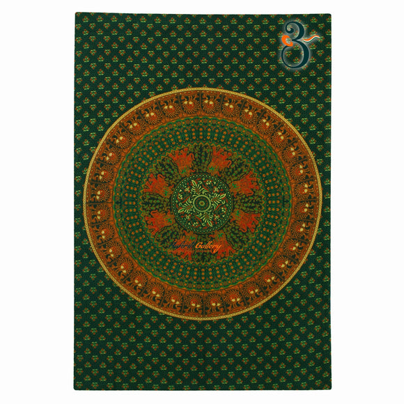 Single Mandala Wall Tapestry Elephant Mandala Green Tapestry Wall Hanging Bohemian Bedspread Indian Decor Tapestry