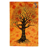 Home Decor Indian Wall Tapestry Orange Dye Tree Twin Size
