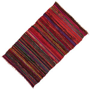 RED COLOR 100% COTTON INDIAN CARPETS HANDMADE RUG WEAVE YOGA MAT RUGS