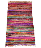 INDIAN CARPETS 100% COTTON HANDMADE CHINDI RUG AREA RAG RUGS WEAVE YOGA MAT