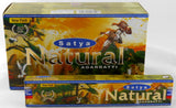 SATYA NATURAL INCENSE STICKS PACK OF 12 (EACH BOX CONTAINS 15G)