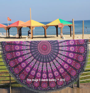 "72"" Indian Mandala Hippie Round Yoga Tapestry Beach Boho Picnic Mat Blanket"