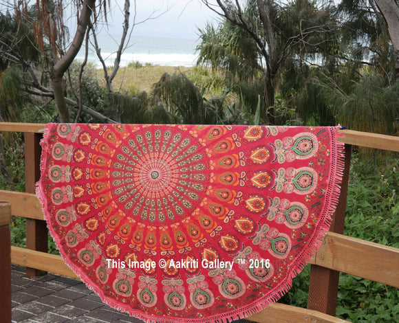 Indian Round Hippie Mandala Tapestry Boho Beach Throw Yoga Mat Rug Decor 72
