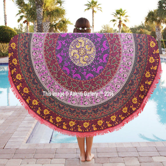 Indian-Round-Mandala-Tapestry-Wall-Hanging-Throw-Towel-Boho-Beach-Yoga-Mat-72