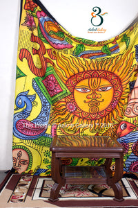 Brush Sun Indian Wall Tapestries Throw Tapestry Queen Size