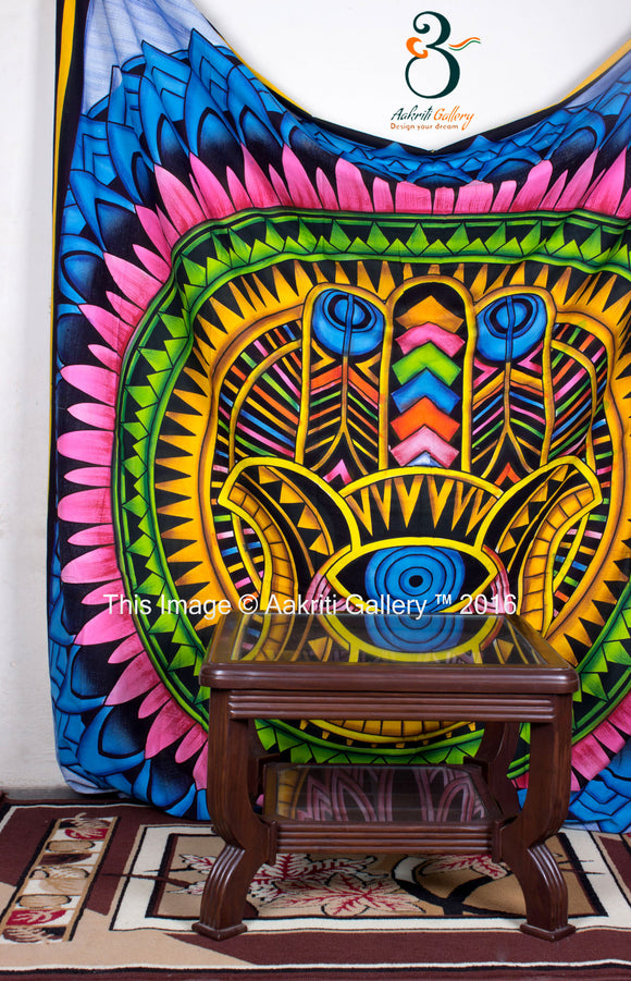 Handpainted  Hand Indian Mandala Tapestry  Wall Hanging Throw  Bedspread Queen