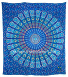 Barmeri Mandala New Mor Turquoise (White Outer) New Peacock Home Decor Wall Tapestry