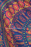 Indian Barmeri Mandala Flower Elephant Dark blue Queen Size