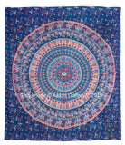 Indian Barmeri Mandala Dark Blue Bhala Queen Size