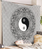 Indian Yin Yang Mandala Wall Hanging Large Bohemian Tapestry Hippie Throw Decor