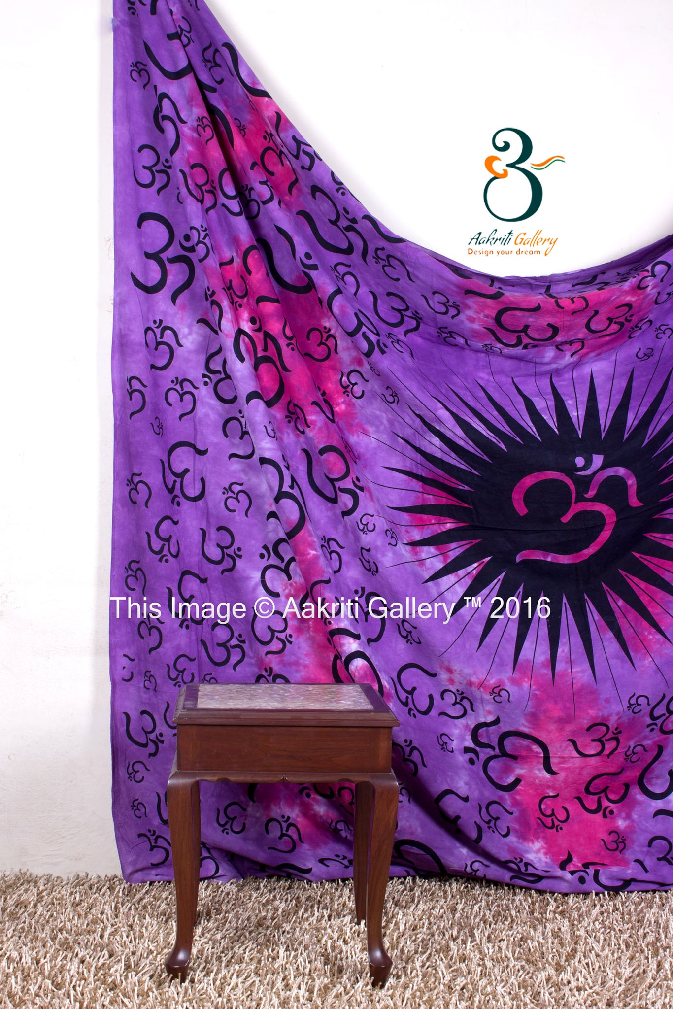 Indian Wall Hanging Pink Purple Mandala Queen