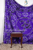 Indian Border Om Purple Mandala Wall Hanging Throw Cotton Handmade Wall Decor Sheet Tapestry